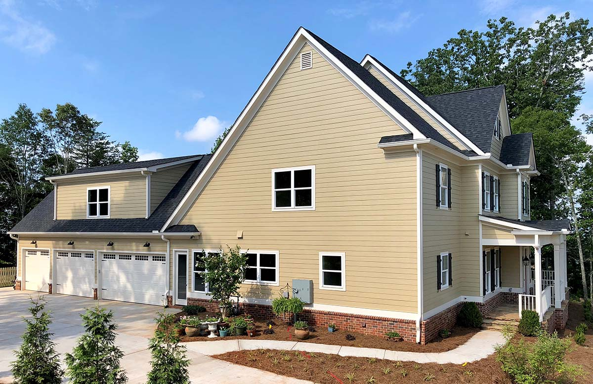 Farmhouse, Traditional House Plan 52022 with 4 Beds, 5 Baths, 4 Car Garage Picture 2