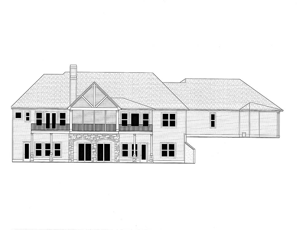Craftsman, Farmhouse, Southern House Plan 52024 with 4 Beds, 4 Baths, 5 Car Garage Picture 1