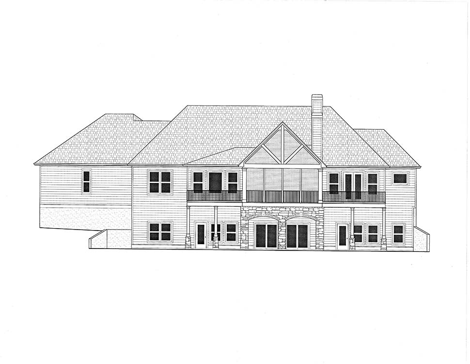 Cottage, Craftsman House Plan 52026 with 4 Beds, 4 Baths, 3 Car Garage Picture 2