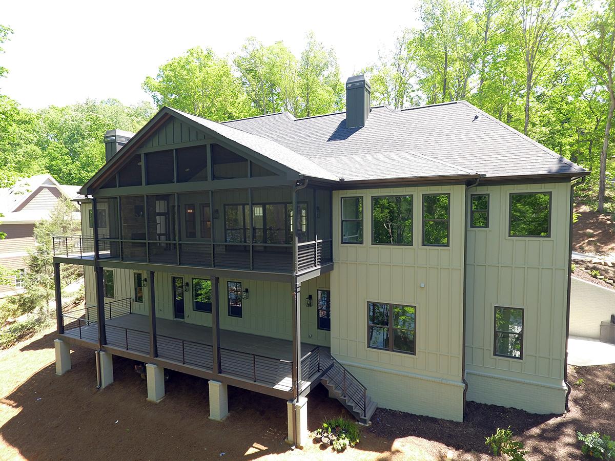 Craftsman House Plan 52029 with 4 Beds, 4 Baths, 3 Car Garage Rear Elevation