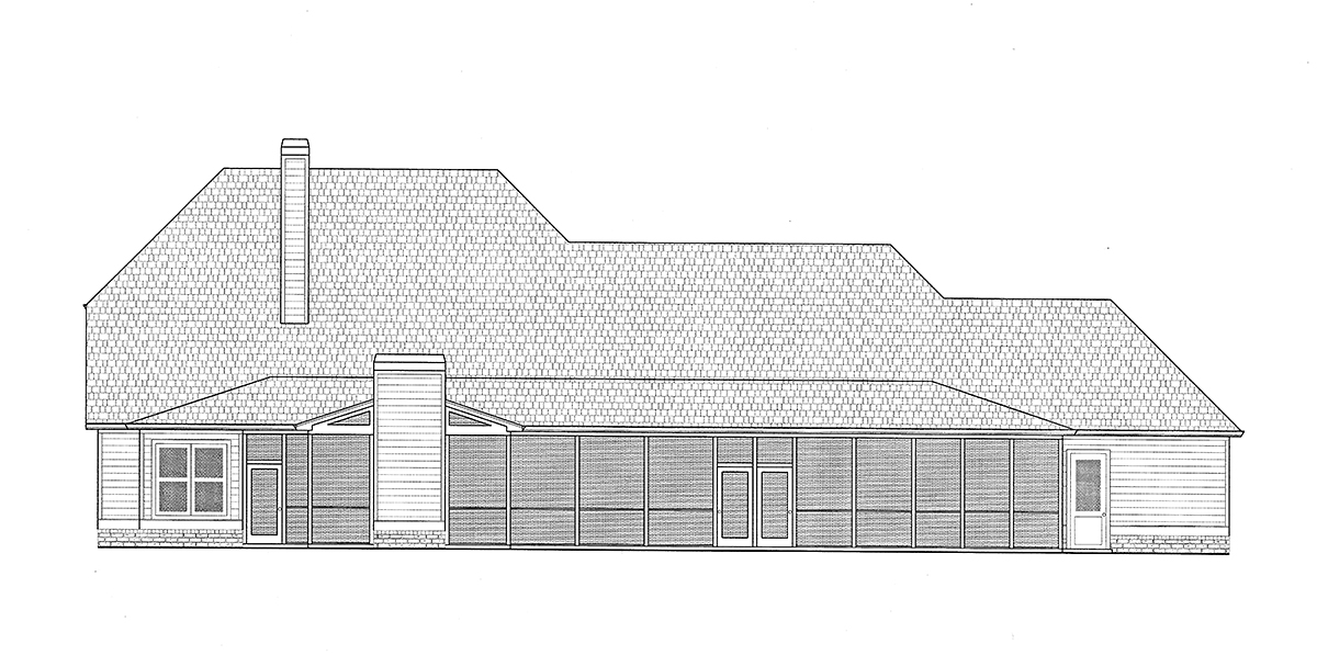 Craftsman, Farmhouse House Plan 52030 with 4 Beds, 4 Baths, 4 Car Garage Rear Elevation