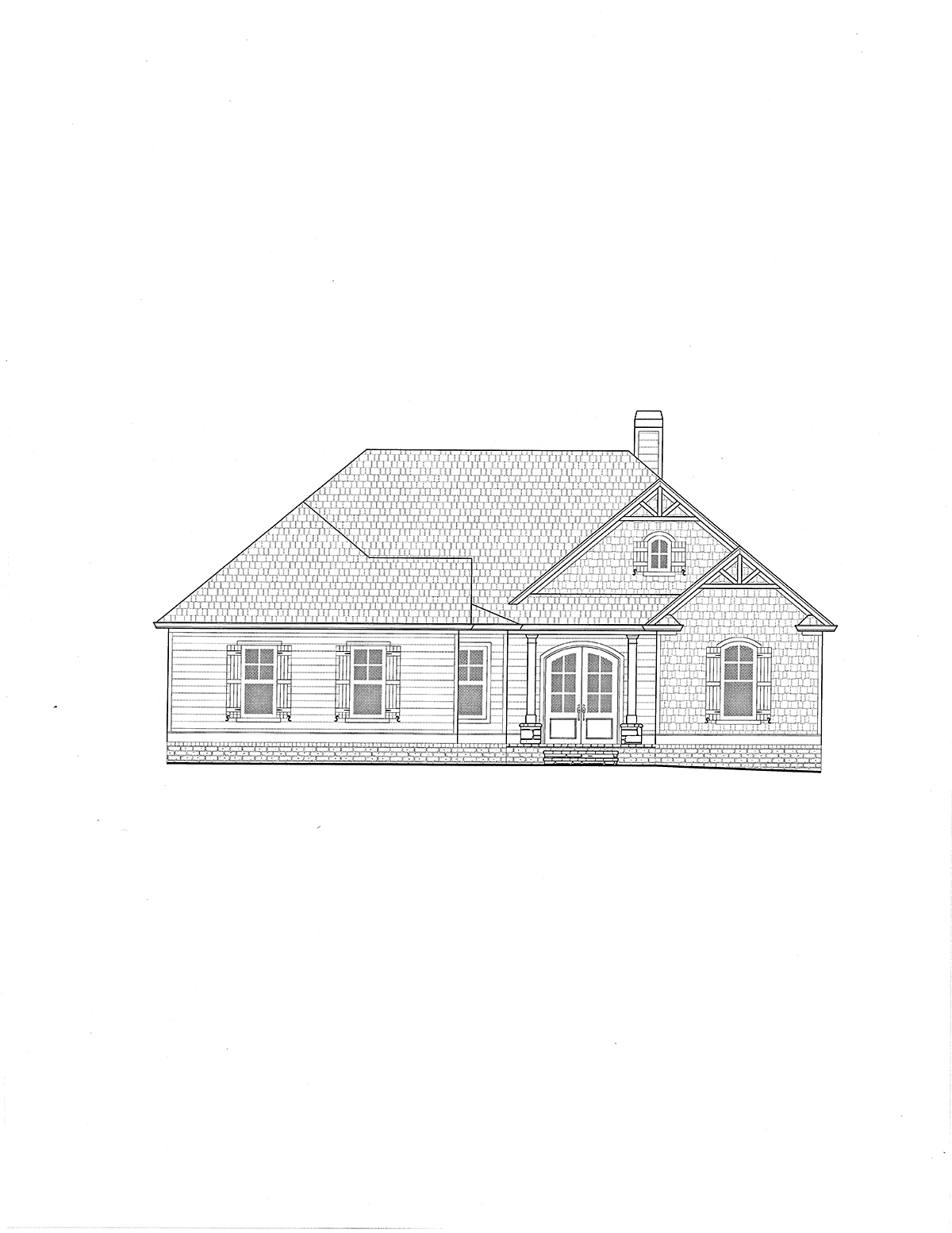 Craftsman, Farmhouse House Plan 52031 with 4 Beds, 4 Baths, 3 Car Garage Picture 1