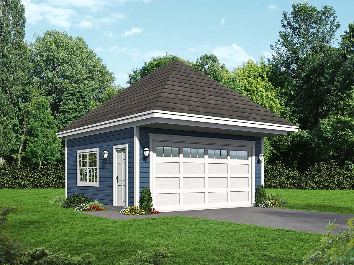 Contemporary 2 Car Garage Plan 52102 Elevation