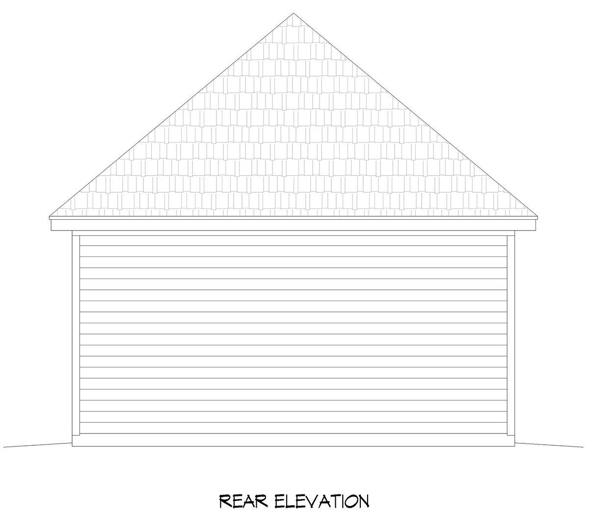 Contemporary 2 Car Garage Plan 52102 Rear Elevation