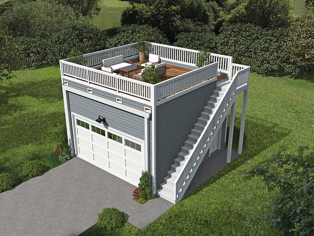 2 Car Garage Plan 52107 Elevation