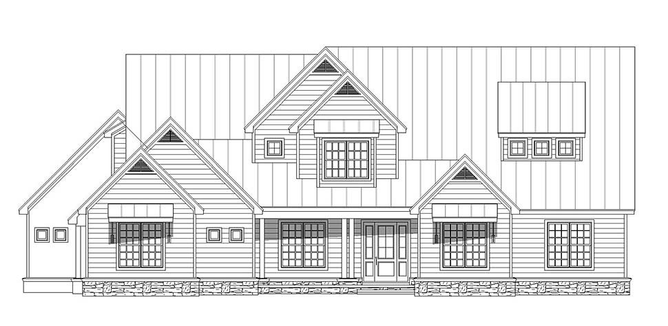 Country, Farmhouse, Traditional House Plan 52111 with 6 Beds, 5 Baths, 4 Car Garage Picture 3