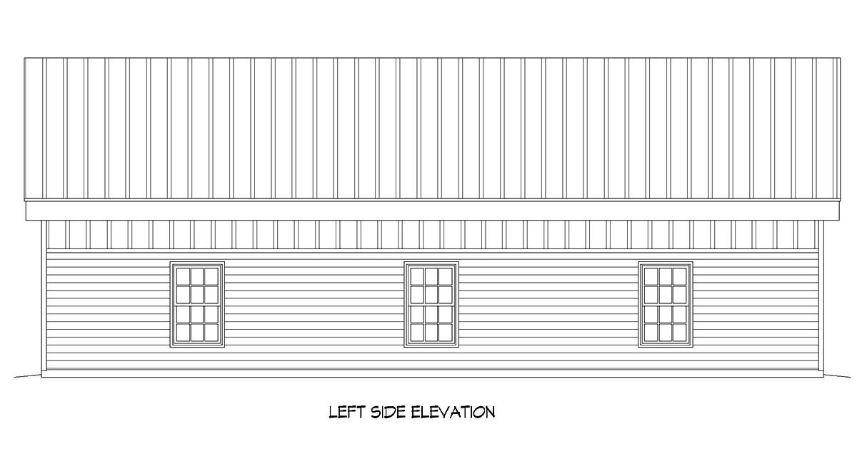 Contemporary, Modern 2 Car Garage Plan 52112, RV Storage Picture 2