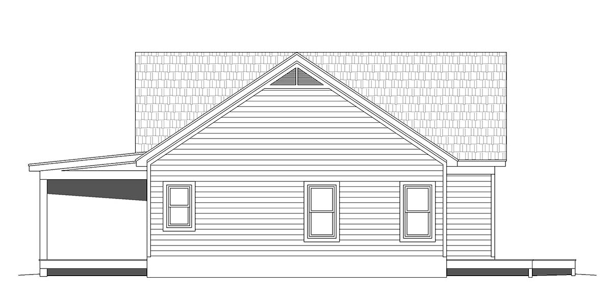 Traditional House Plan 52115 with 2 Beds, 2 Baths, 2 Car Garage Picture 2