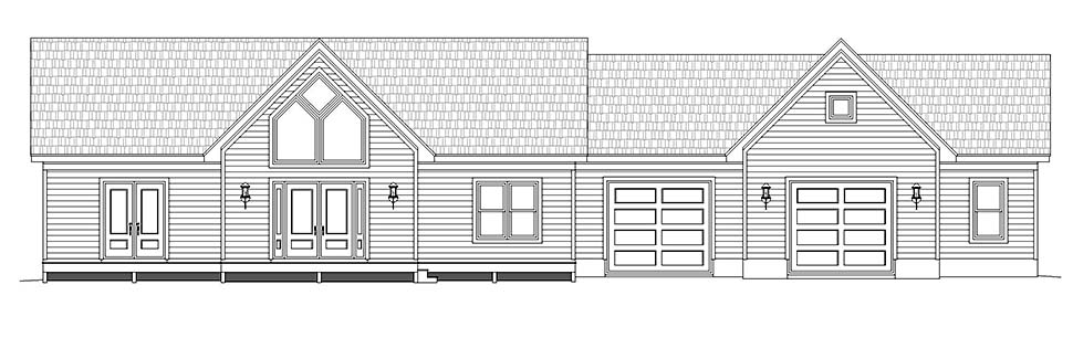 Traditional House Plan 52115 with 2 Beds, 2 Baths, 2 Car Garage Picture 3