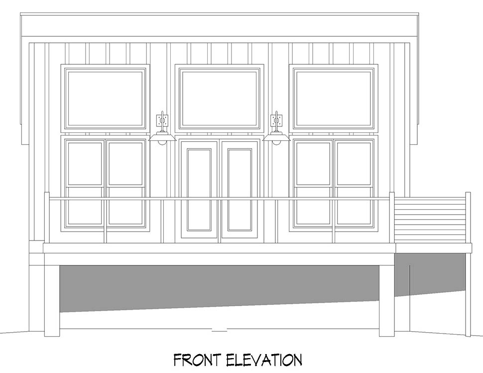 Contemporary, Modern House Plan 52116 with 1 Beds, 1 Baths Picture 3