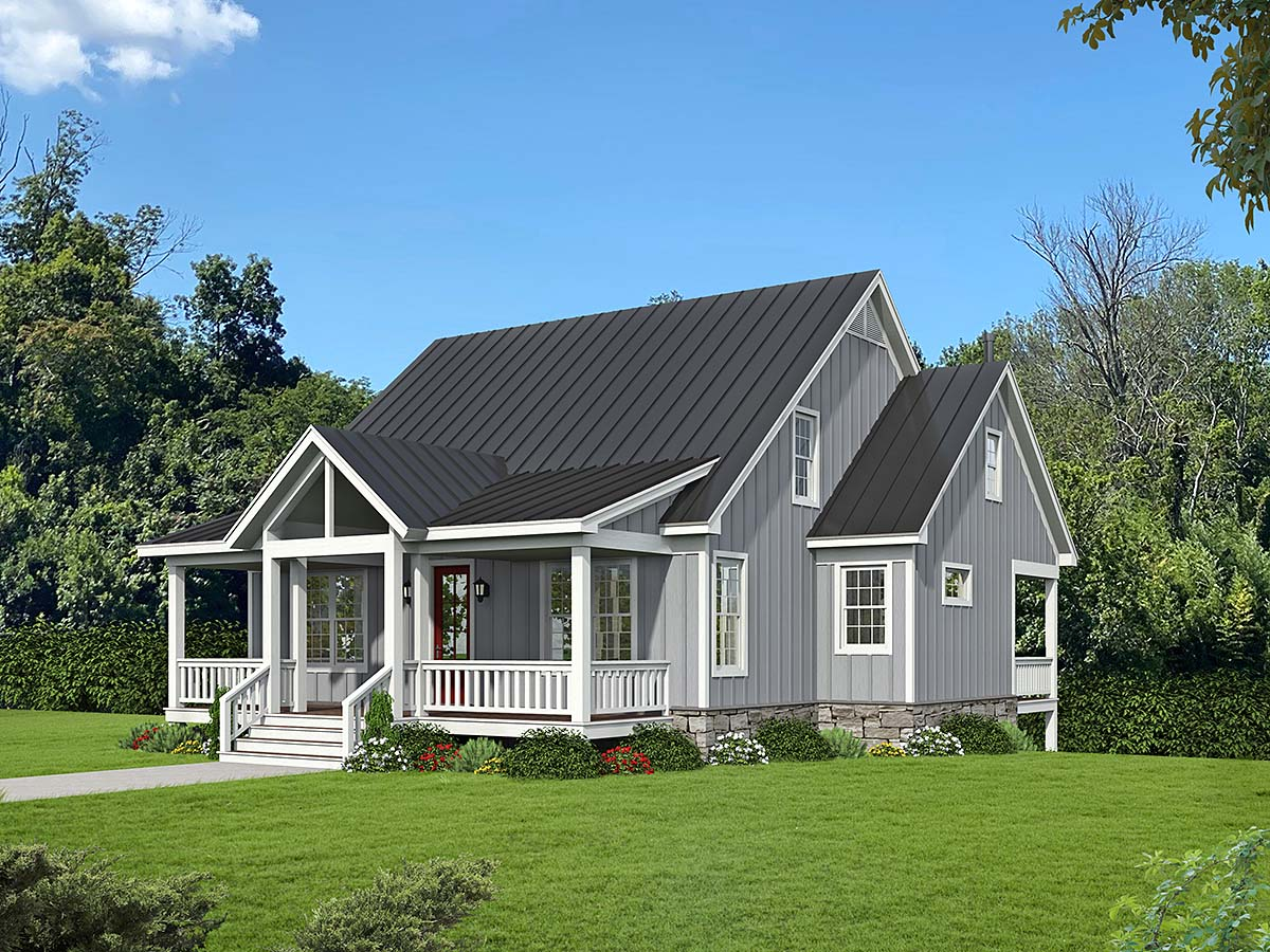 Country, Traditional House Plan 52118 with 3 Beds, 4 Baths Elevation