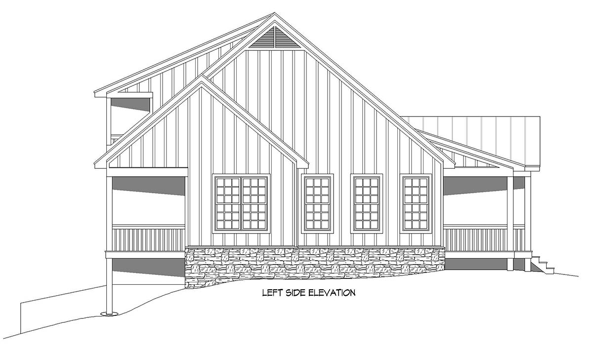 Country, Traditional House Plan 52118 with 3 Beds, 4 Baths Picture 2