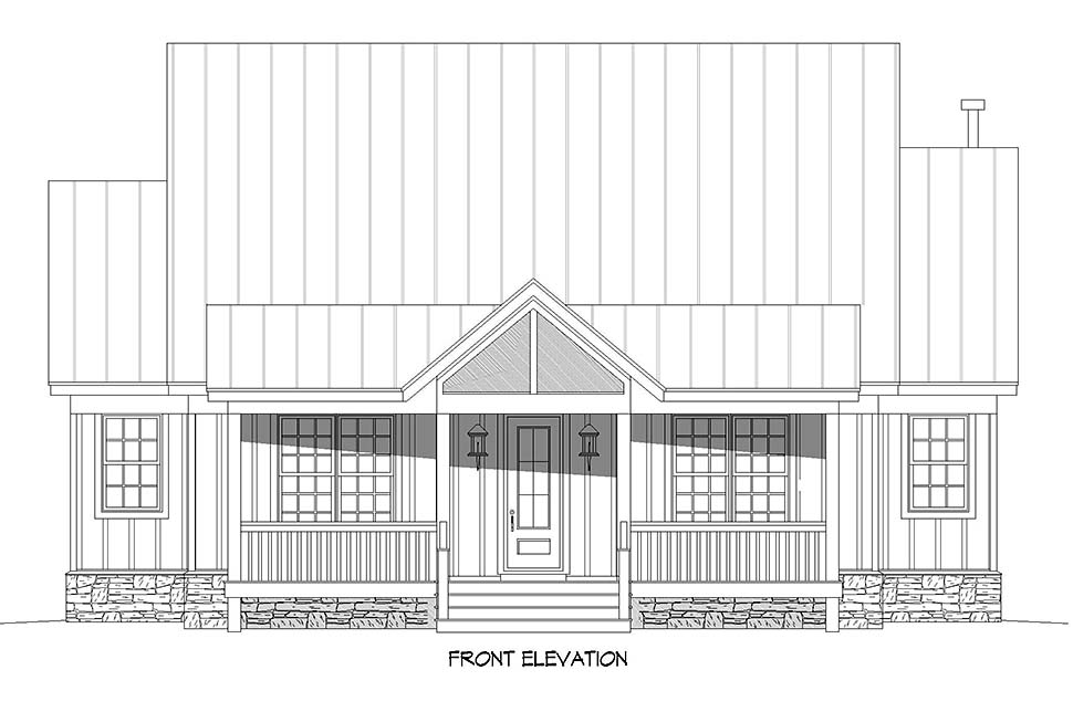 Country, Traditional House Plan 52118 with 3 Beds, 4 Baths Picture 3