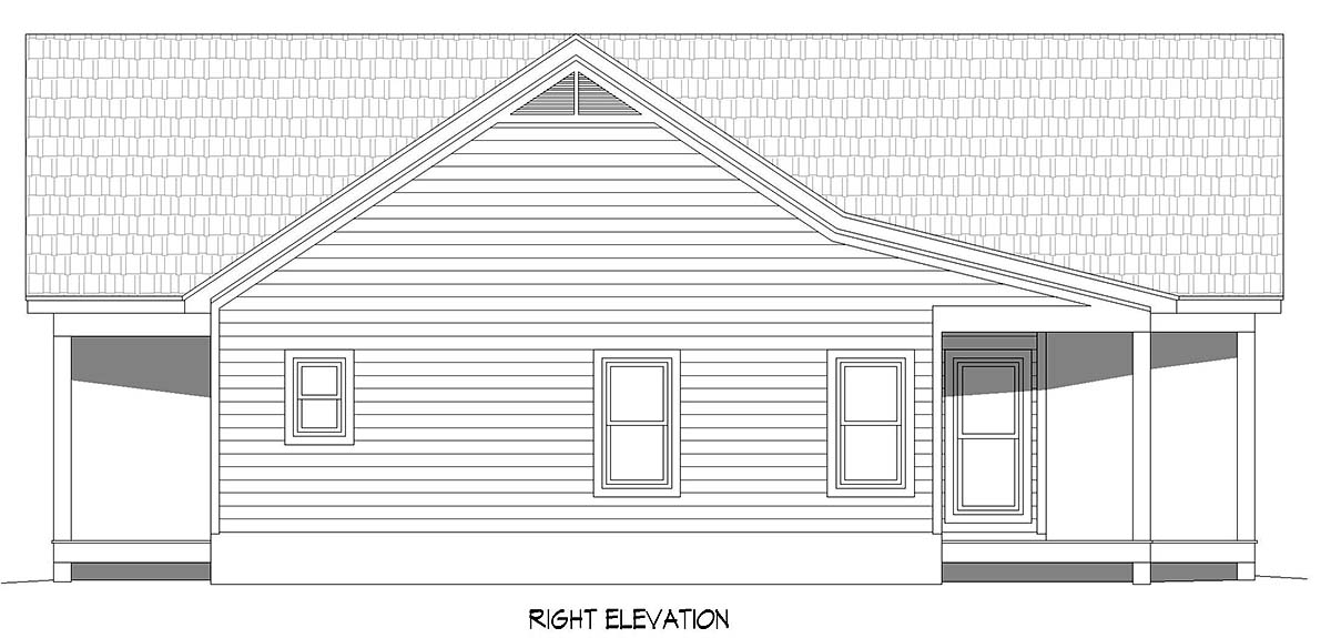 Country, Farmhouse, Traditional House Plan 52120 with 2 Beds, 2 Baths Picture 1