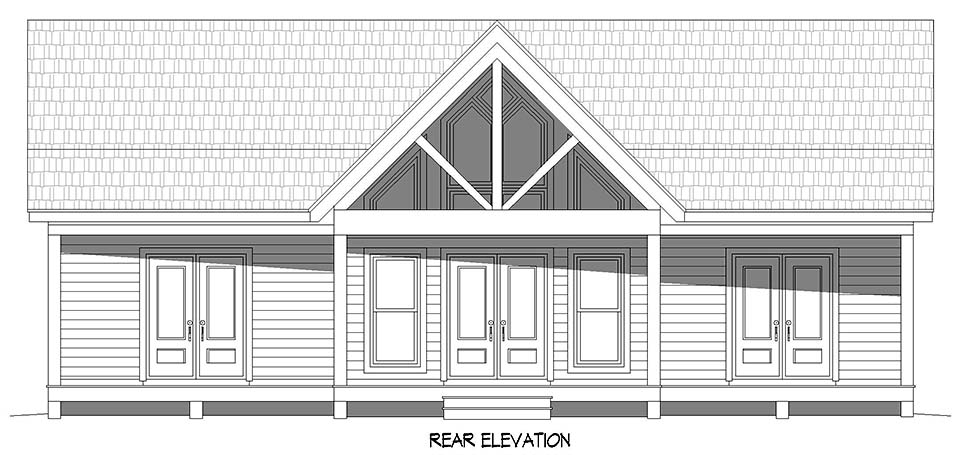 Country, Farmhouse, Traditional House Plan 52120 with 2 Beds, 2 Baths Picture 4