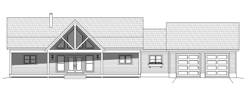 Country, Farmhouse, Traditional House Plan 52122 with 2 Beds, 2 Baths, 2 Car Garage Picture 3