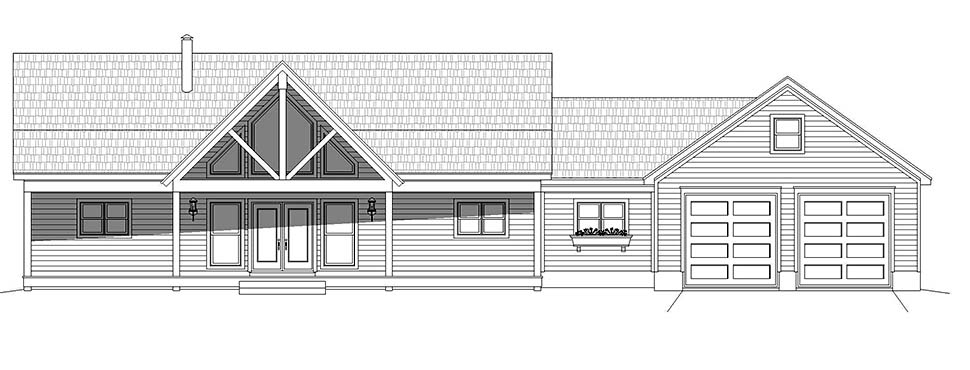 Country, Farmhouse, Traditional House Plan 52123 with 2 Beds, 2 Baths, 2 Car Garage Picture 3