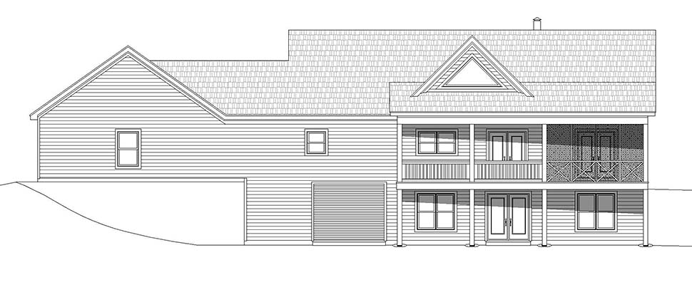 Country, Farmhouse, Traditional House Plan 52123 with 2 Beds, 2 Baths, 2 Car Garage Picture 4