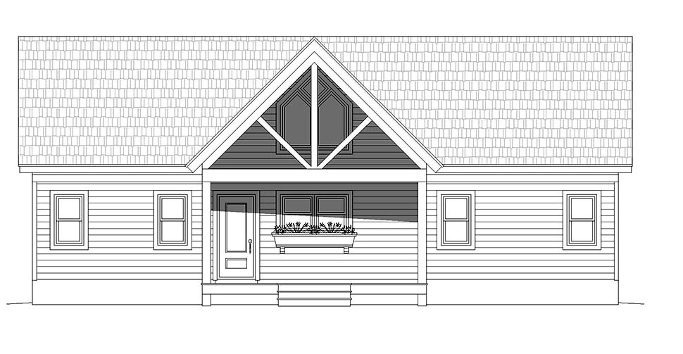 Country, Ranch, Traditional House Plan 52126 with 2 Beds, 2 Baths Picture 3