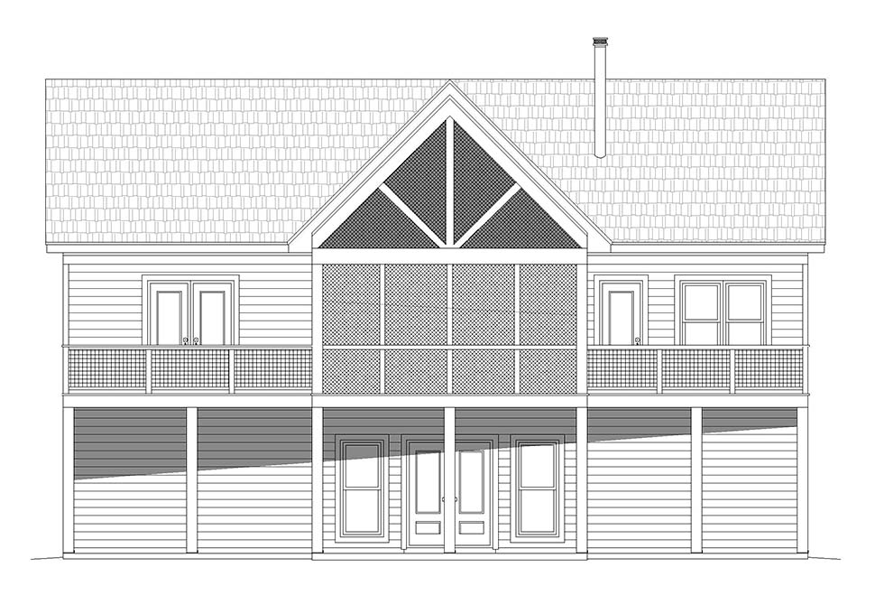 Country, Ranch, Traditional House Plan 52126 with 2 Beds, 2 Baths Picture 4