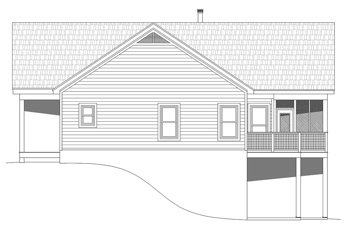 Traditional House Plan 52127 with 4 Beds, 4 Baths Picture 1
