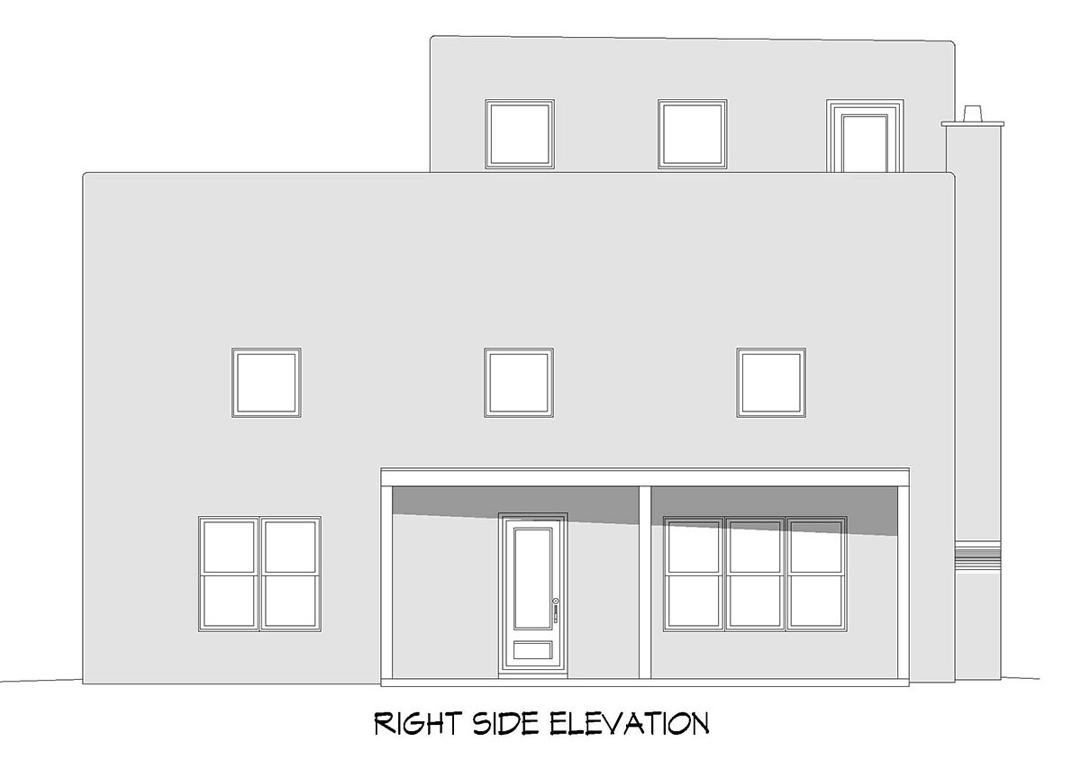 Santa Fe, Southwest Garage-Living Plan 52129 with 1 Beds, 1 Baths Picture 1