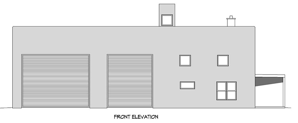 Santa Fe, Southwest Garage-Living Plan 52129 with 1 Beds, 1 Baths Picture 3
