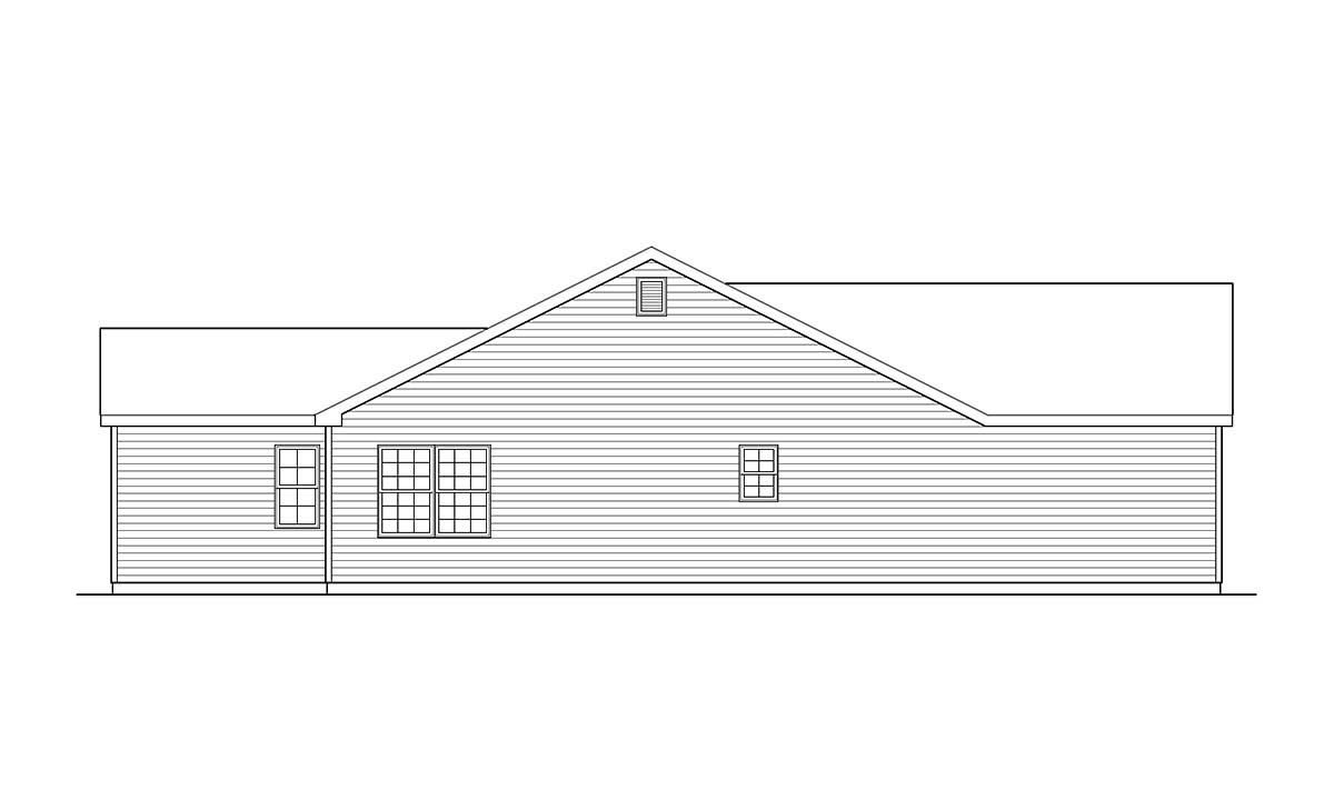 Ranch, Traditional House Plan 52200 with 3 Beds, 2 Baths, 2 Car Garage Picture 2