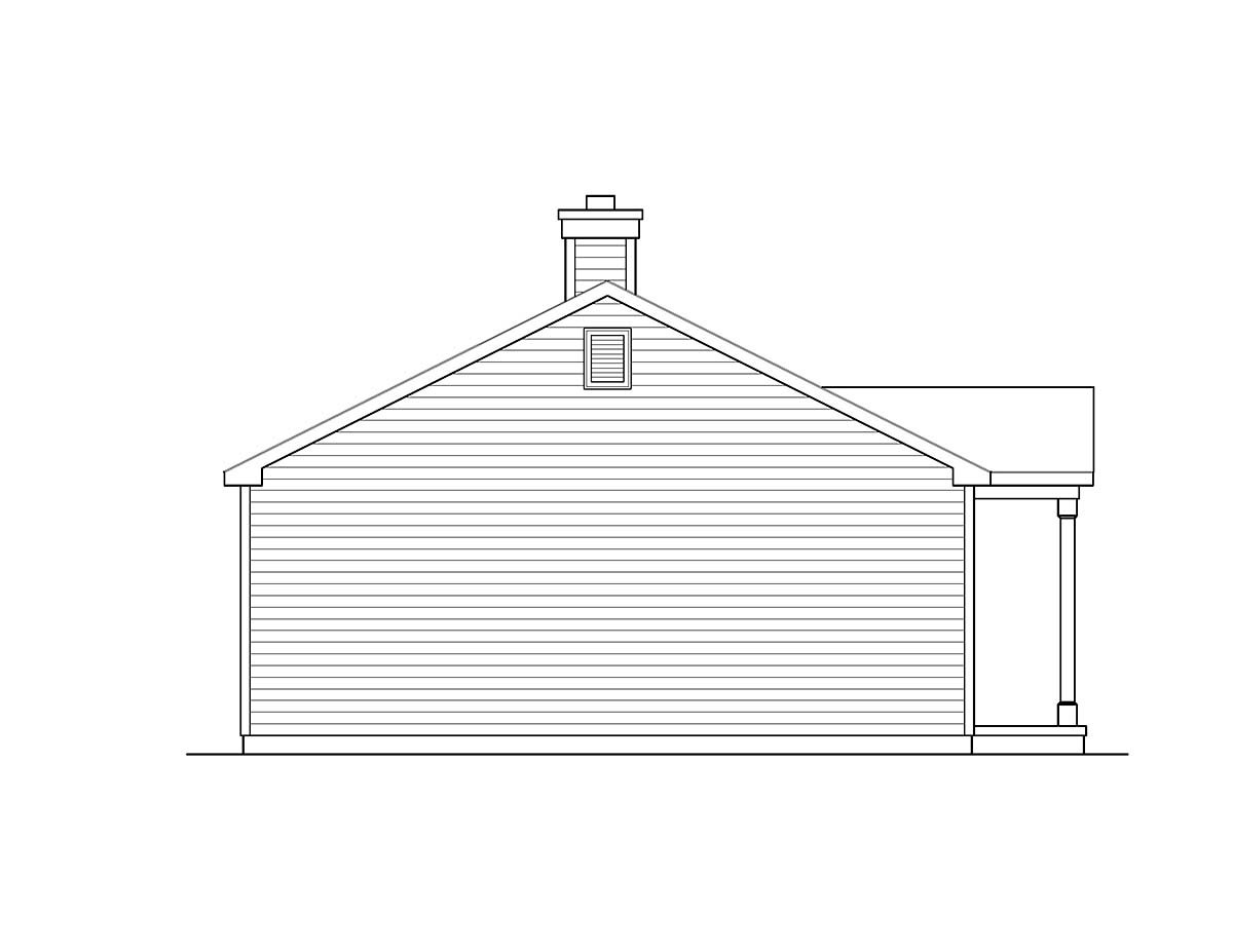 Ranch House Plan 52203 with 3 Beds, 1 Baths Picture 2