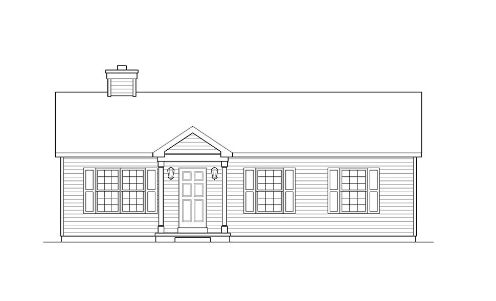 Ranch House Plan 52203 with 3 Beds, 1 Baths Picture 3