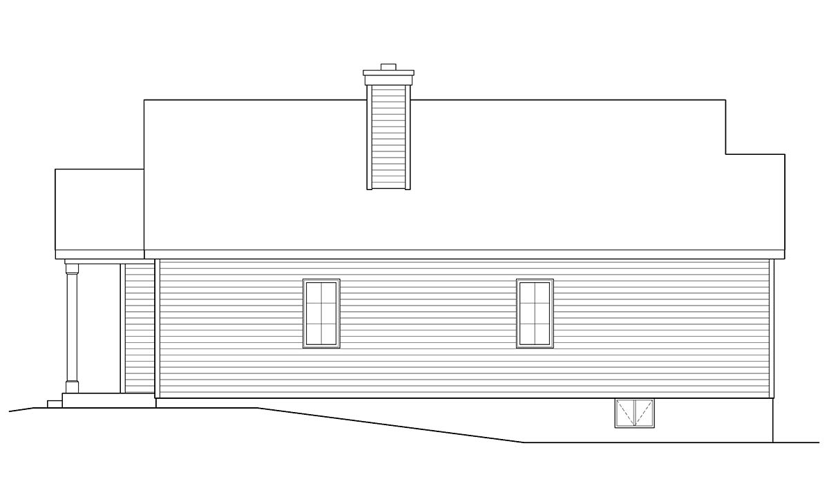 Ranch House Plan 52204 with 3 Beds, 2 Baths, 1 Car Garage Picture 1