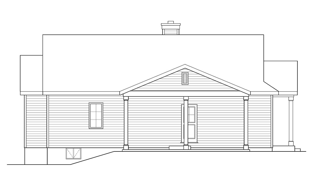 Ranch House Plan 52204 with 3 Beds, 2 Baths, 1 Car Garage Picture 2