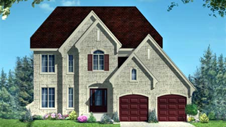 House Plan 52300 with 3 Beds, 3 Baths, 2 Car Garage Elevation