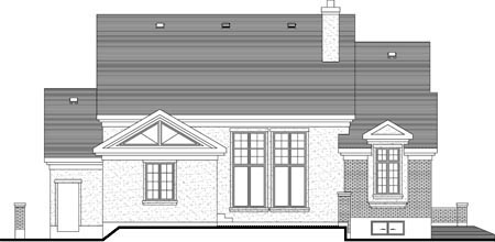 House Plan 52301 Rear Elevation