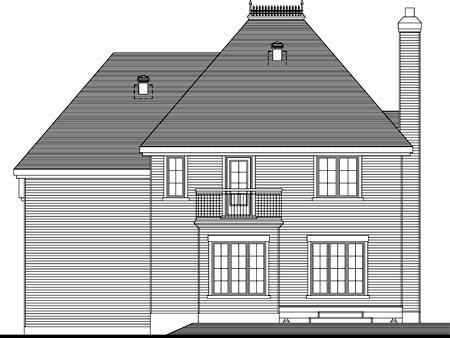 House Plan 52303 Rear Elevation