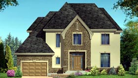 House Plan 52305 with 3 Beds, 3 Baths, 1 Car Garage Elevation