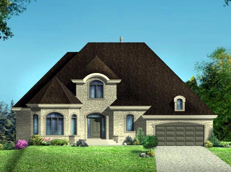 House Plan 52306 Elevation