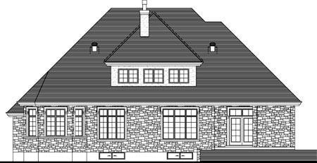 House Plan 52306 Rear Elevation
