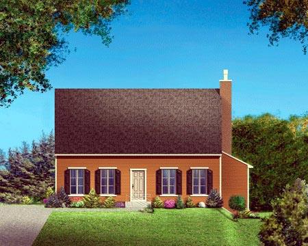 House Plan 52307 Elevation