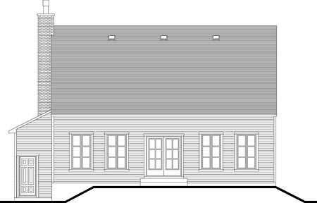 House Plan 52307 Rear Elevation