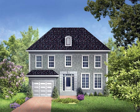 House Plan 52308 Elevation