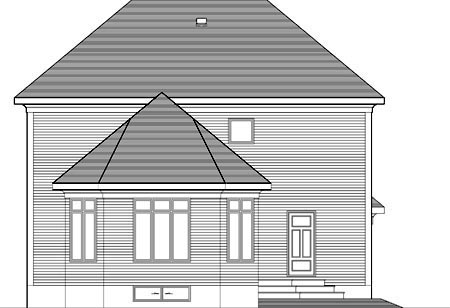House Plan 52308 Rear Elevation