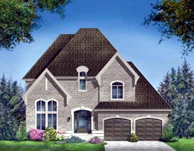 House Plan 52309 | Style Plan with 2571 Sq Ft, 4 Bedrooms, 3 Bathrooms, 2 Car Garage Elevation