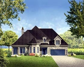House Plan 52310 Elevation