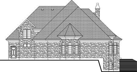 House Plan 52310 Rear Elevation