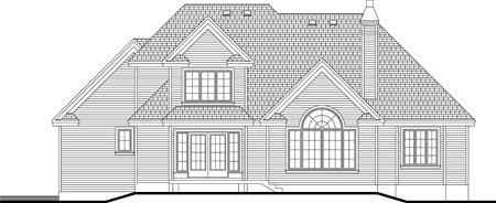 House Plan 52311 Rear Elevation