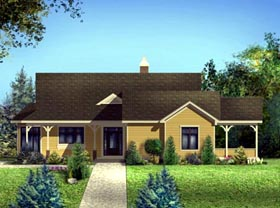 House Plan 52312 | Style Plan with 2957 Sq Ft, 4 Bedrooms, 3 Bathrooms, 2 Car Garage Elevation