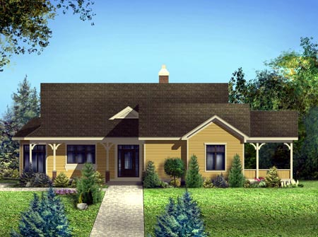 House Plan 52312 Elevation