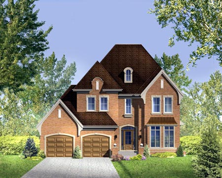 House Plan 52315 with 5 Beds, 4 Baths, 2 Car Garage Elevation