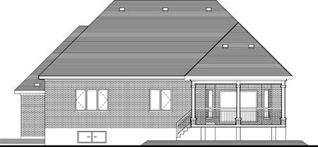 House Plan 52316 Rear Elevation